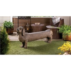 Zingz and Thingz Dachshund Doggy Bench in Brown