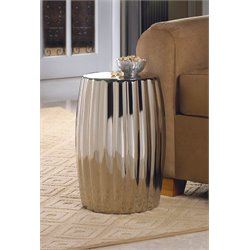 Zingz and Thingz Decorative Stool in Silver