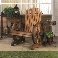 Zingz and Thingz Wagon Wheel Adirondack Chair in Brown