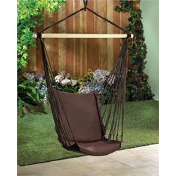 Zingz and Thingz Cotton Padded Swing Chair in Brown