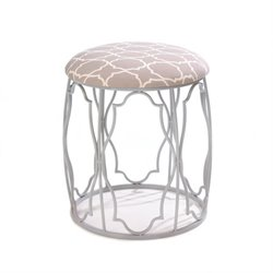 Zingz and Thingz Moroccan Wish Stool in White