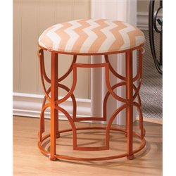 Zingz and Thingz Chic Chevron Stool in Orange