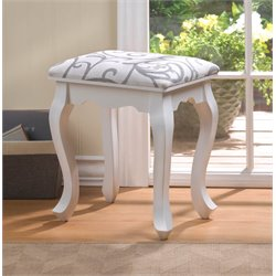 Zingz and Thingz Willow Foot Stool in White