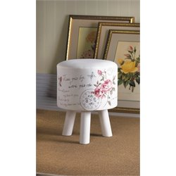 Zingz and Thingz Butterfly Post Stool in White