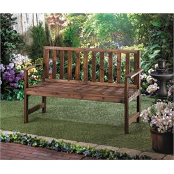 Zingz and Thingz Garden Grove Wood Bench in Brown