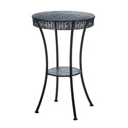 Zingz and Thingz Moroccan Style Patio Bistro Table in Black