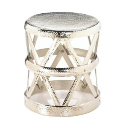Zingz and Thingz Hammered Drum Foot Stool
