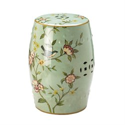 Zingz and Thingz Ceramic Garden Stool in Green