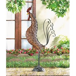 Zingz and Thingz Metal Rooster Sculpture