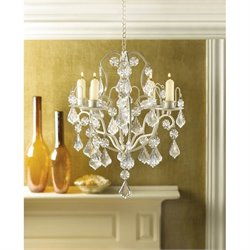 Zingz and Thingz Baroque Chandelier in Ivory