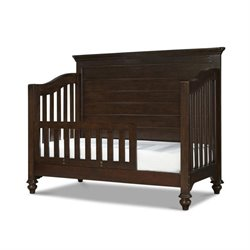 Smartstuff Paula Deen Guys Convertible Toddler Rail Crib in Molasses