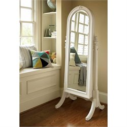 Smartstuff Bellamy Cheval Storage Mirror in Daisy White