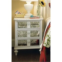 Smartstuff Bellamy Vintage Nightstand in Daisy White