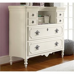 Smartstuff Genevieve Mademoiselle 6 Drawer Chest in French White