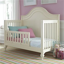 Smartstuff Gabriella Convertible Crib with Toddler Rail Kit in White