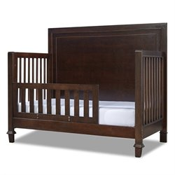 Smartstuff Freestyle Convertible Crib with Toddler Rail Kit in Mocha