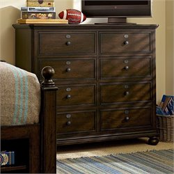 Smartstuff Paula Deen Guys 8 Drawer Wood Jack's Chest in Molasses