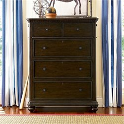 Smartstuff Paula Deen Guys 5 Drawer Chest in Molasses