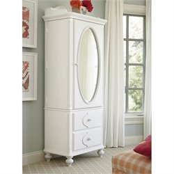 Smartstuff Black and White Armoire in White