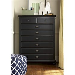 Smartstuff Black and White 5 Drawer Chest in Black