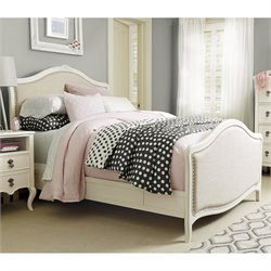Genevieve's Upholstered Panel Bed in White