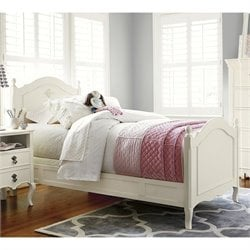 Genevieve's Wood Reading Bed in French White