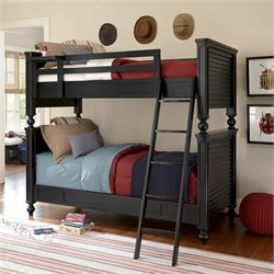 Black & White All American Bunk Bed in Black