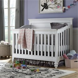Black & White Wood Convertible Crib
