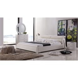 Angel Leather Upholstered Bed