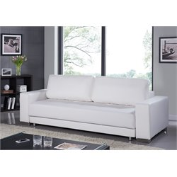 Casabianca Cloe Leather Sleeper Sofa in White