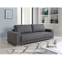 Casabianca Cloe Fabric Sleeper Sofa in Gray