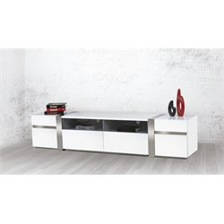 Cristallino Entertainment Center in White