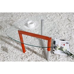 Casabianca Tangle Glass End Table in Orange