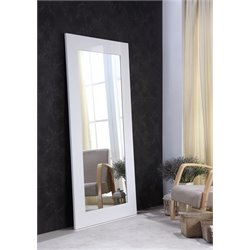 Casabianca View Mini Floor Mirror in White