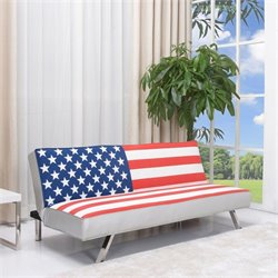 Gold Sparrow American Flag Fabric Convertible Sofa
