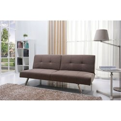 Gold Sparrow Victorville Fabric Convertible Sofa in Mocha