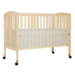 Dream On Me Folding Full Size Crib in French White