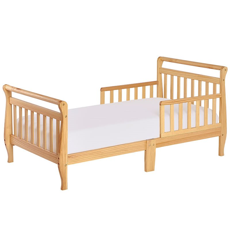 Dream On Me Sleigh Toddler Bed In Natural