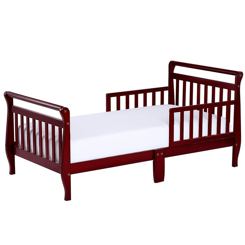 Dream On Me Sleigh Toddler Bed In Cherry