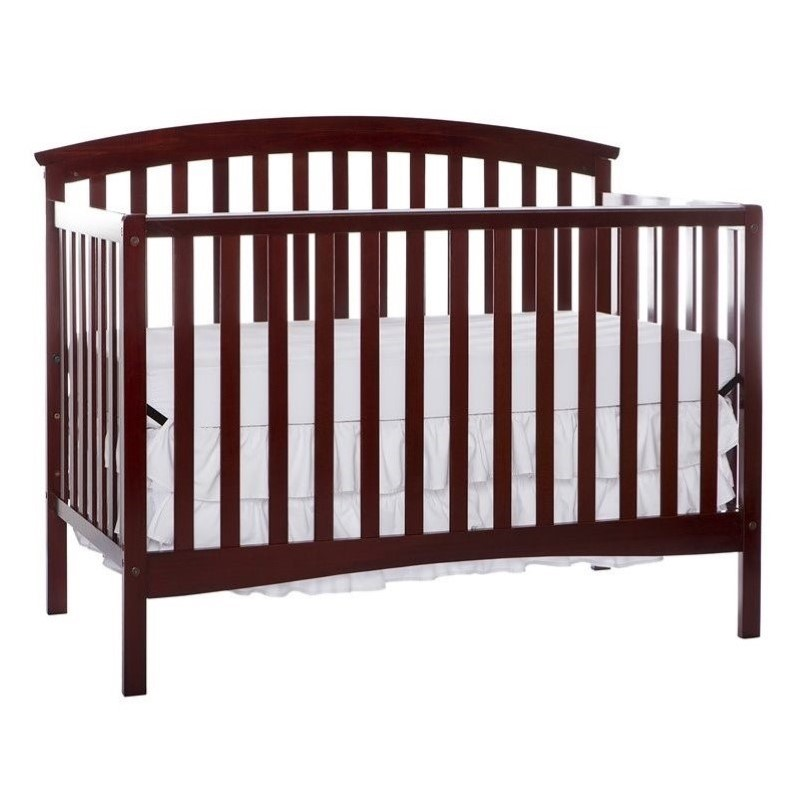 Dream On Me Eden 5 In 1 Convertible Crib In Cherry 664 C