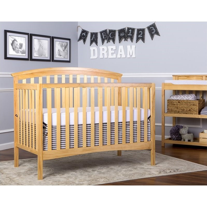 Dream On Me Eden 5 In 1 Convertible Crib In Natural 664 N