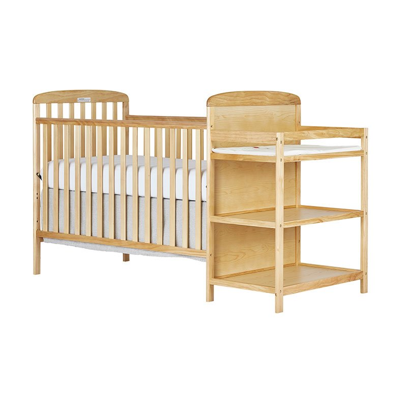 Dream On Me Anna 4-in-1 Full Size Crib and Changing Table in Natural - 678-N