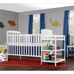 4-in-1 Full Size Crib and Changing Table Combo