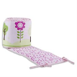 Dream On Me Spring Garden Portable Crib Bumper