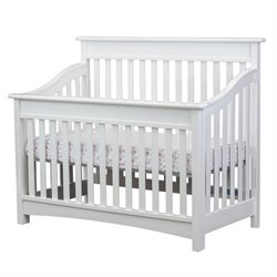 Evolur Avery 5 in 1 LifeStyle Convertible Crib in White