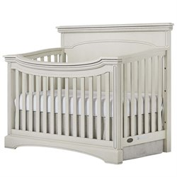 Evolur Catalina Flat Top Convertible Crib in Antique Gray