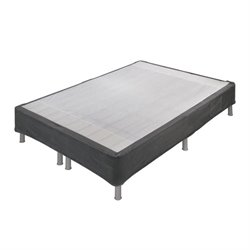 Ashley BTBS Mattress Foundation Metal Riser in Dark Gray