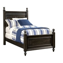 Smiling Hill Panel Bed in Licorice