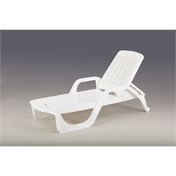 Thy-HOM Zanzibar Patio Lounger in White
