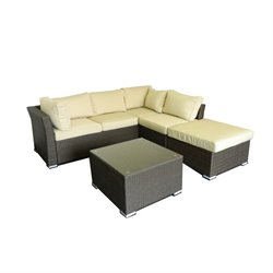 The-Hom Jicaro 5 Piece Outdoor Sectional Sofa Set